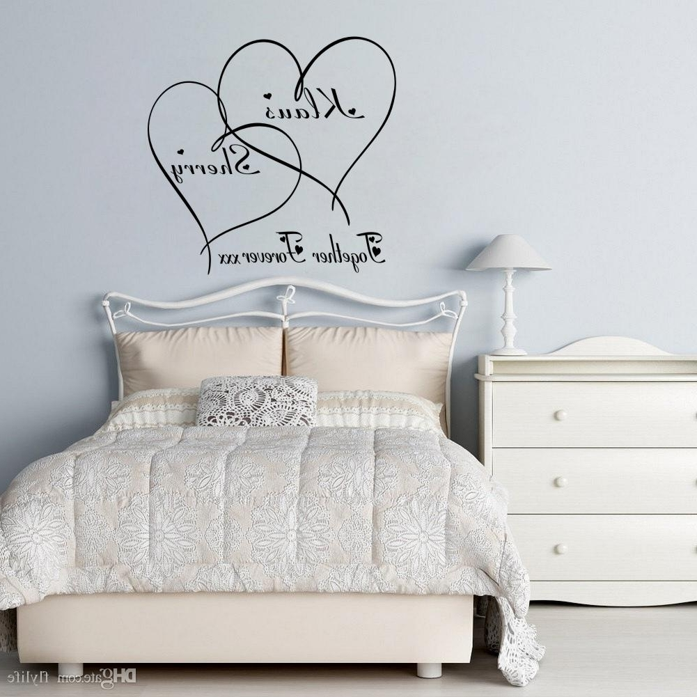 Love Wall Art in Current Love Wall Decals Customer Made Couples Name Romantic Personalised