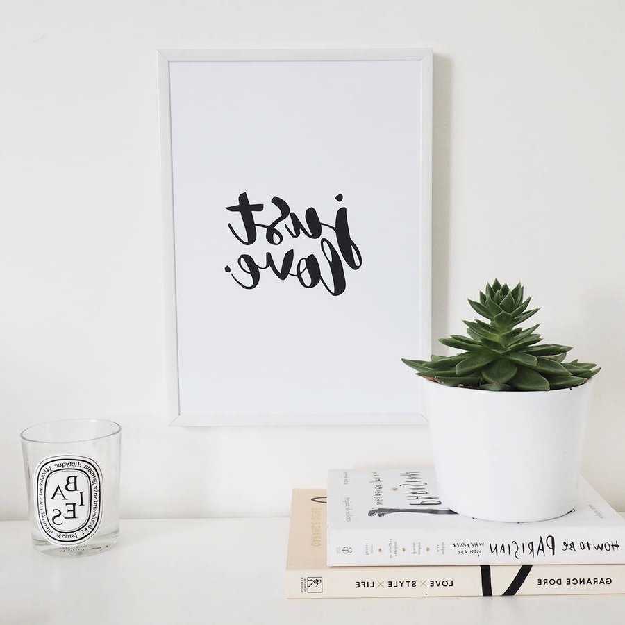 Love Wall Art In Well Known Just Love' Wall Art Foil Printlily Rose Co (View 9 of 15)
