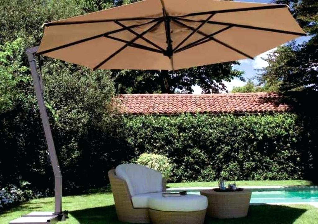 Lowes Cantilever Patio Umbrellas Inside Current Patio Umbrellas Lowes – Yiyelimguzelleselim (View 4 of 15)