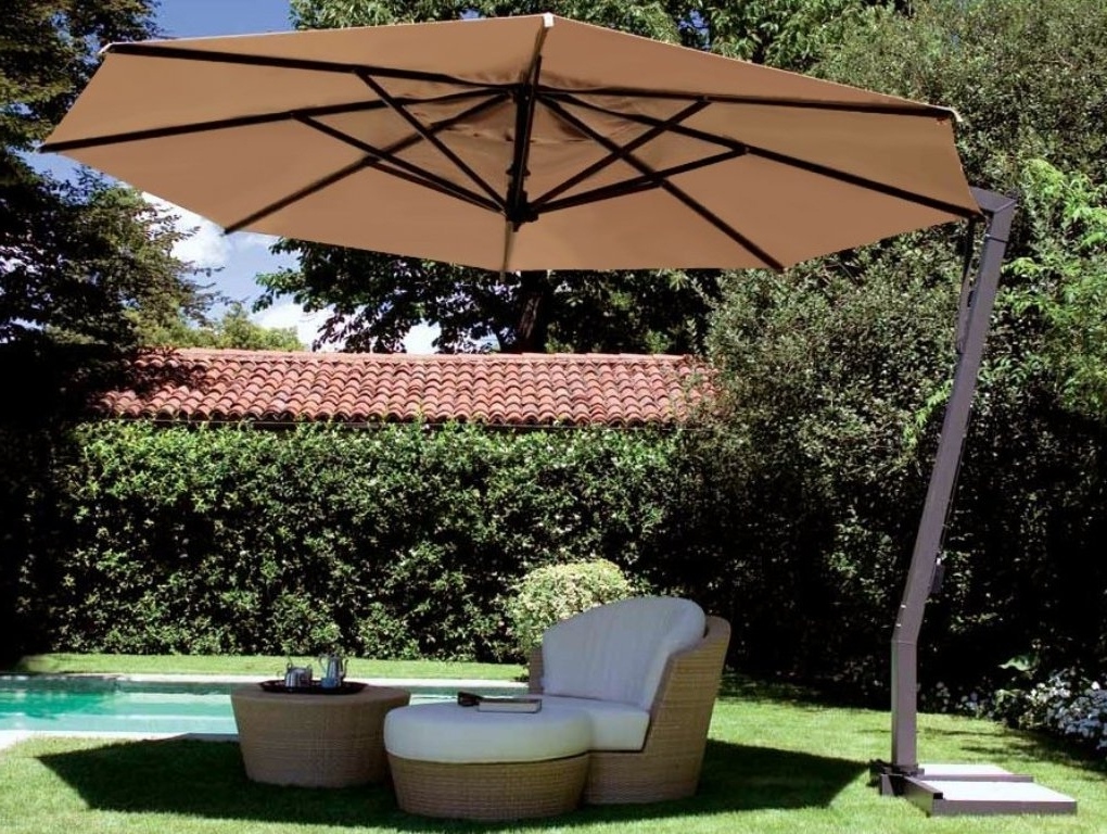 Lowes Offset Patio Umbrellas In Newest Top Patio Umbrellas Offset Half Umbrellas Lowes Canada For Offset (View 7 of 15)