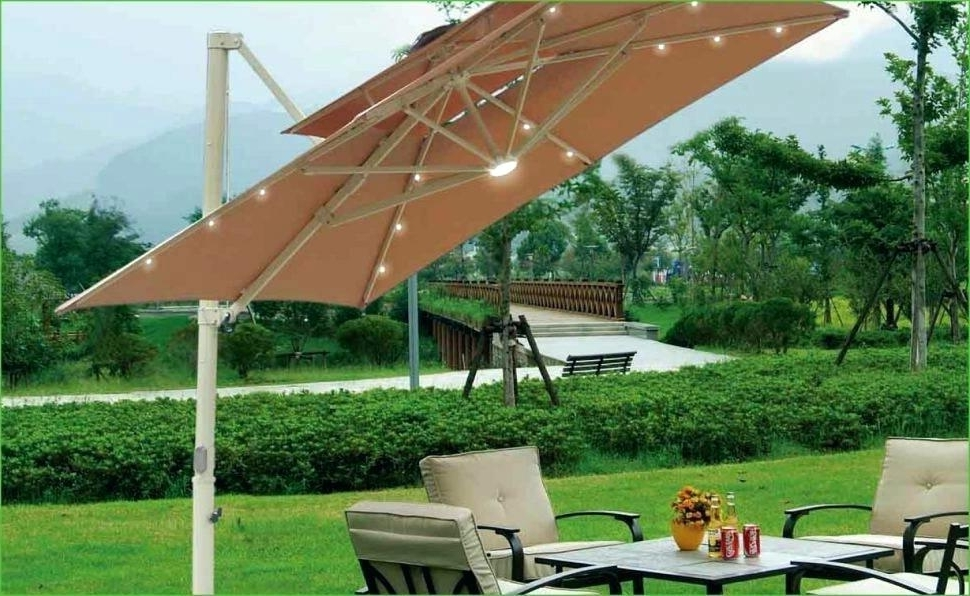 Lowes Offset Patio Umbrellas Throughout Current Patio Umbrellas Lowes Patio  Umbrella Clearance Patio Furniture (View