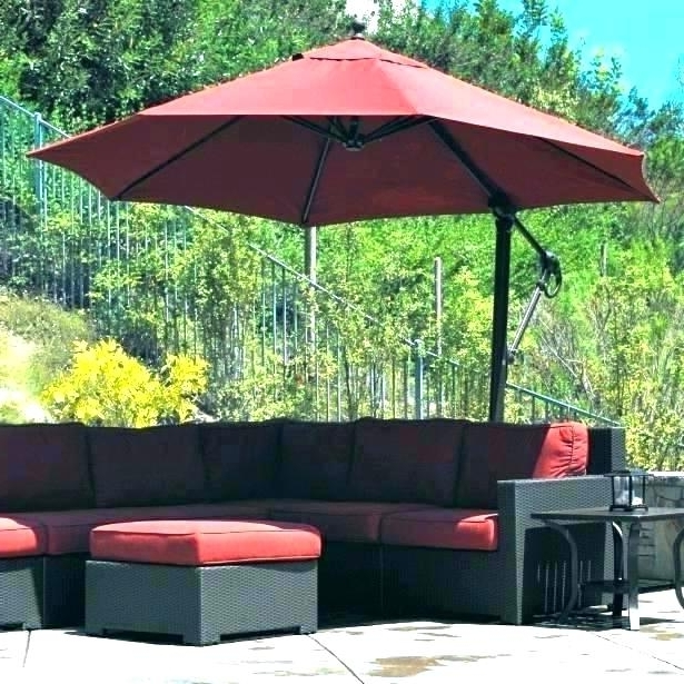 Lowes Offset Patio Umbrellas Within Best And Newest Lowes Patio Umbrella Stand Umbrella Stand Bases Plastic Base (View 4 of 15)