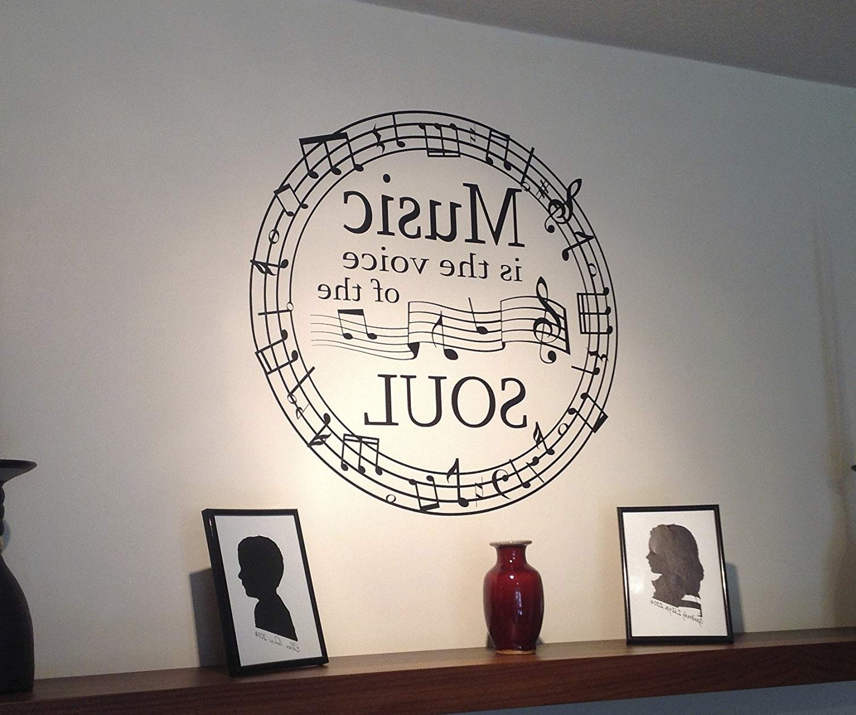 Luedefjl Sl New Music Wall Art Decals – Bsparker Inside Favorite Music Wall Art (View 3 of 15)
