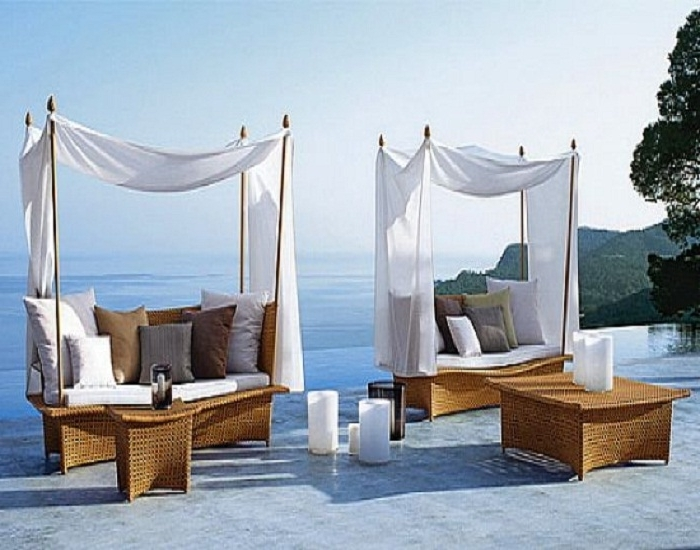 Luxury Outdoor Furniture In Preferred Upscale Patio Umbrellas (View 5 of 15)