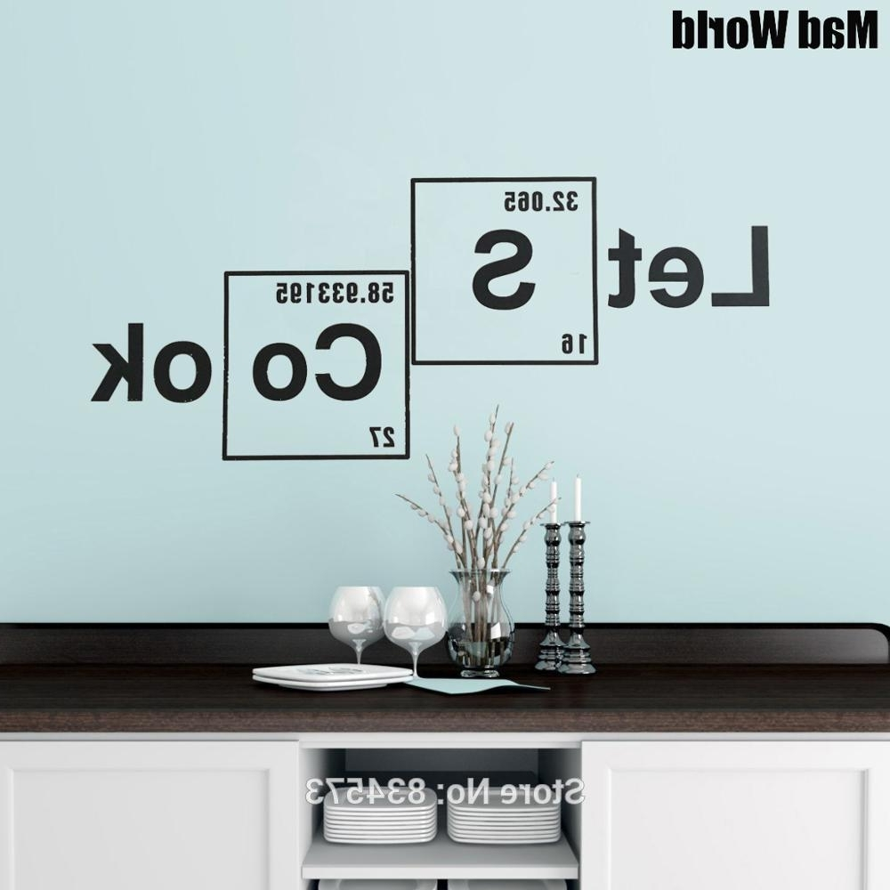 Mad World Let's Cook Periodic Table Elements Wall Art Stickers Wall In Famous Periodic Table Wall Art (View 13 of 15)