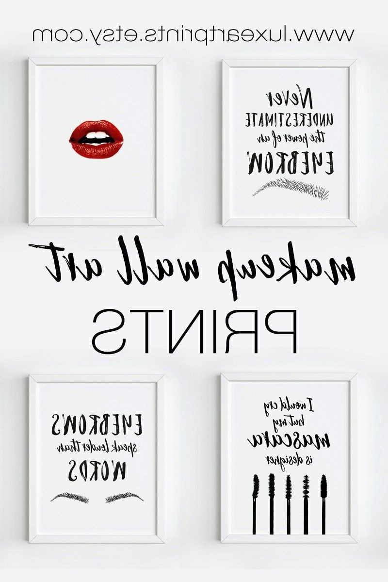 Makeup Wall Art Printables Design Ideas Of Tumblr Wall Stickers Pertaining To Fashionable Tumblr Wall Art (View 13 of 15)