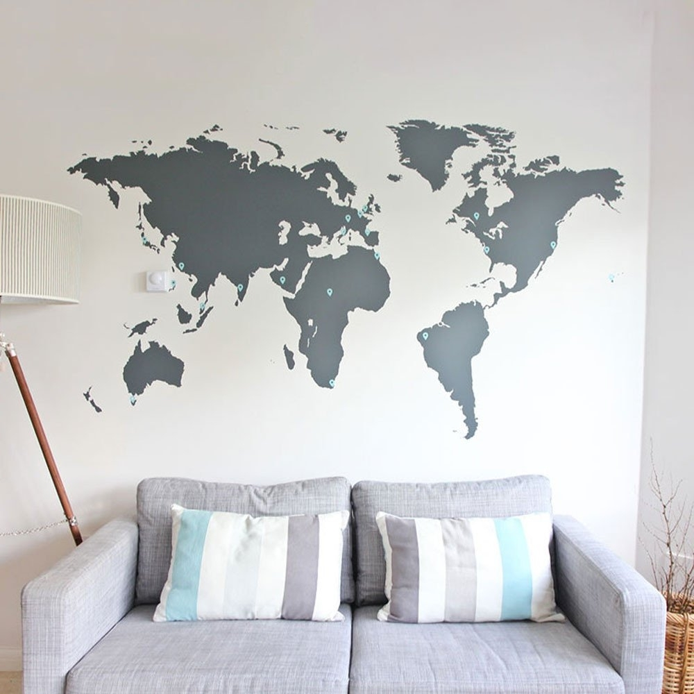 Map Of The World Wall Art With Regard To Current Wall Art World Map – Earthmedia (View 8 of 15)