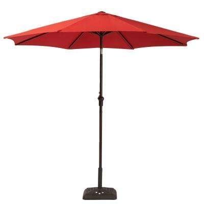 Market Umbrellas – Patio Umbrellas – The Home Depot Regarding Current Patio Umbrellas At Home Depot (View 8 of 15)