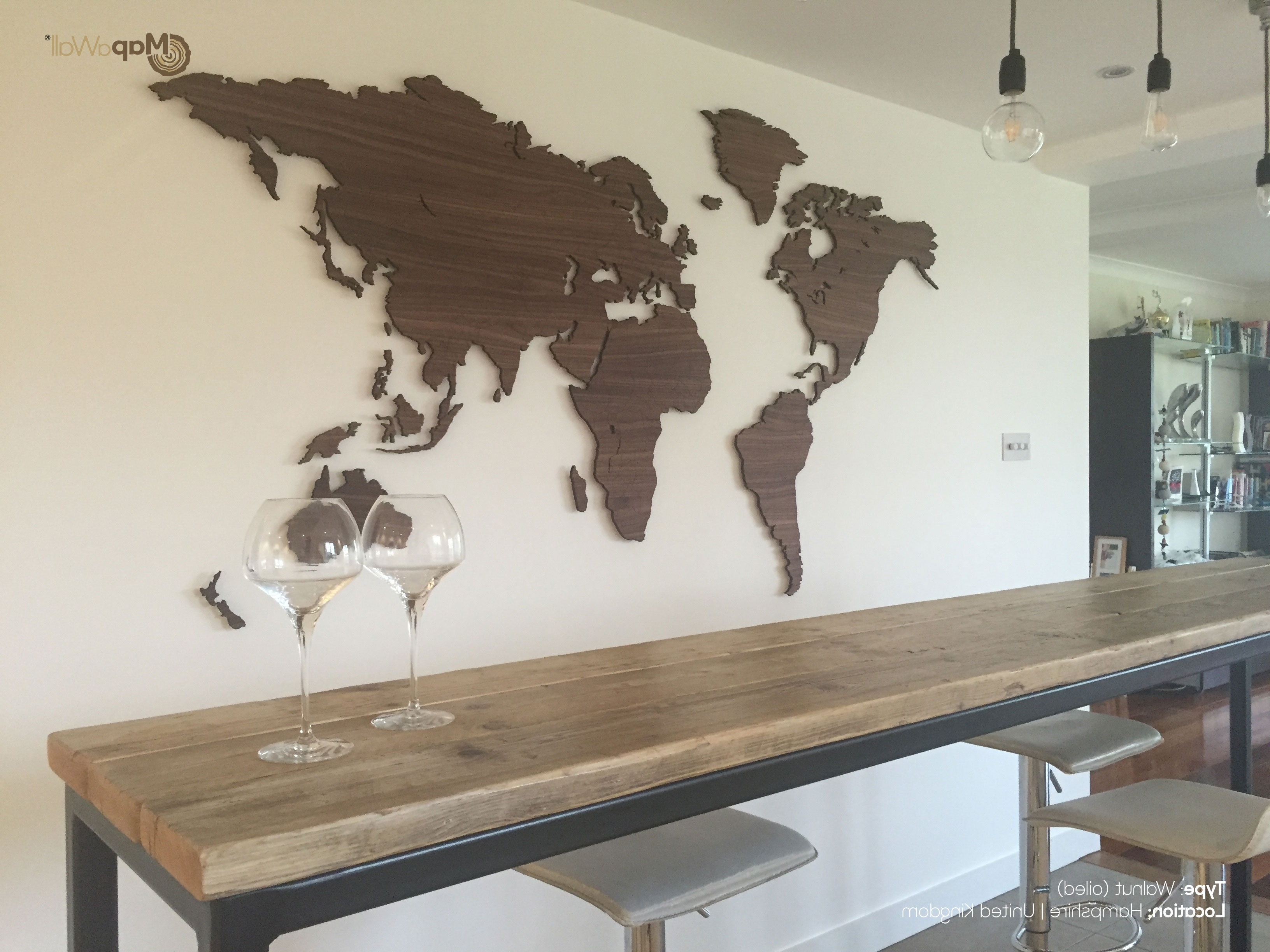 Marvellous Inspiration Ideas Wooden World Map Wall Art Home Decor With Regard To Favorite Wood Map Wall Art (View 13 of 15)