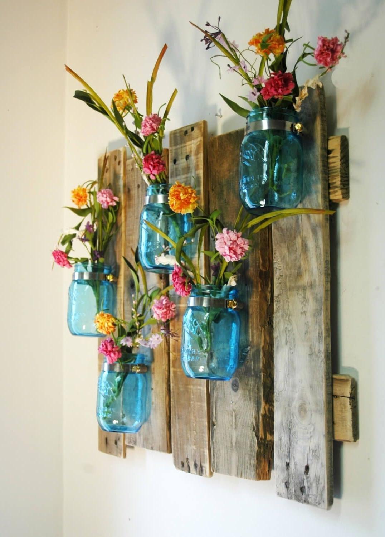 Mason Jar Wall Art In Recent 24 Enchanting Mason Jar Wall Decor Ideas To Brighten Your Walls (View 11 of 15)