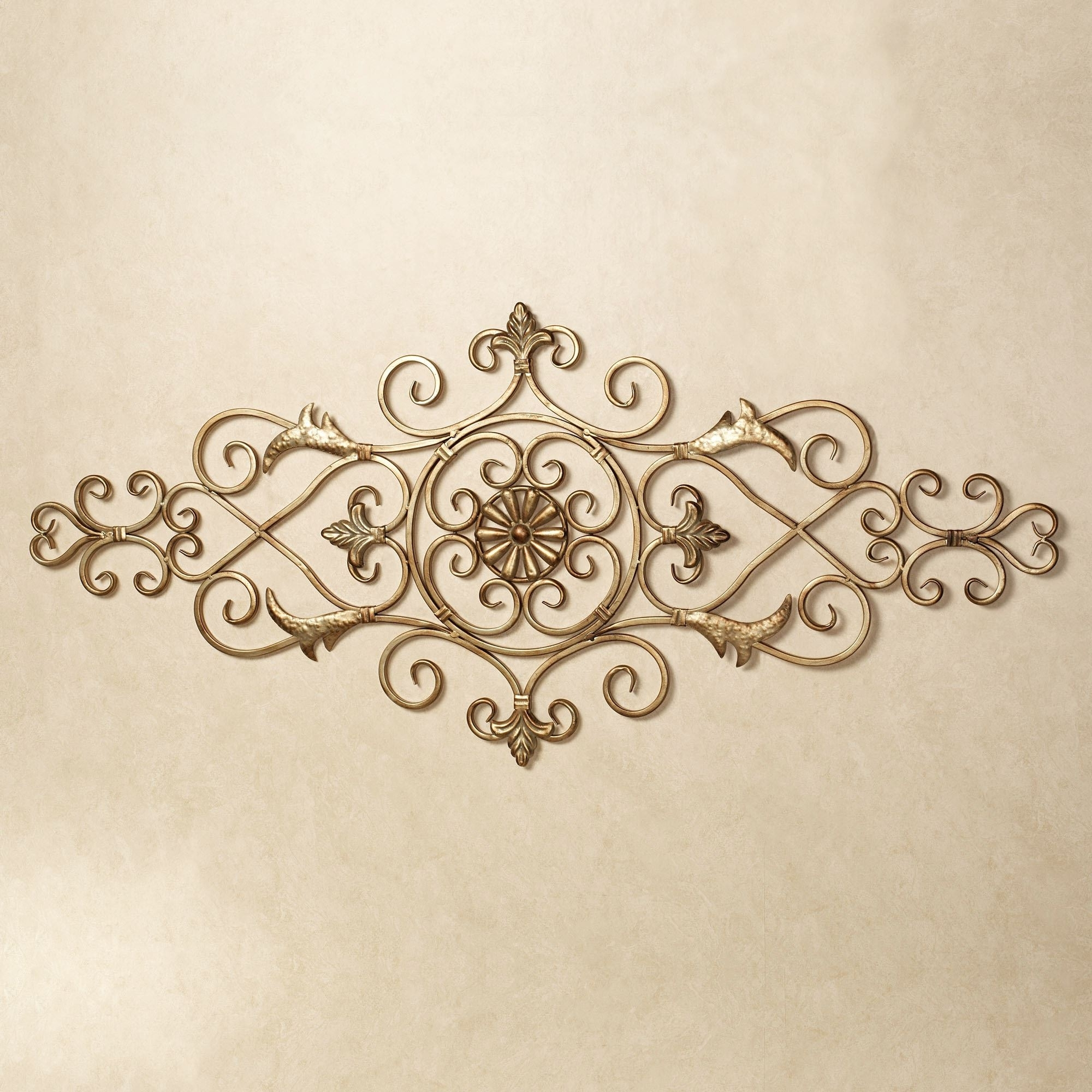 Merano Scrolling Metal Wall Grille For Most Recent Metal Scroll Wall Art (View 1 of 15)