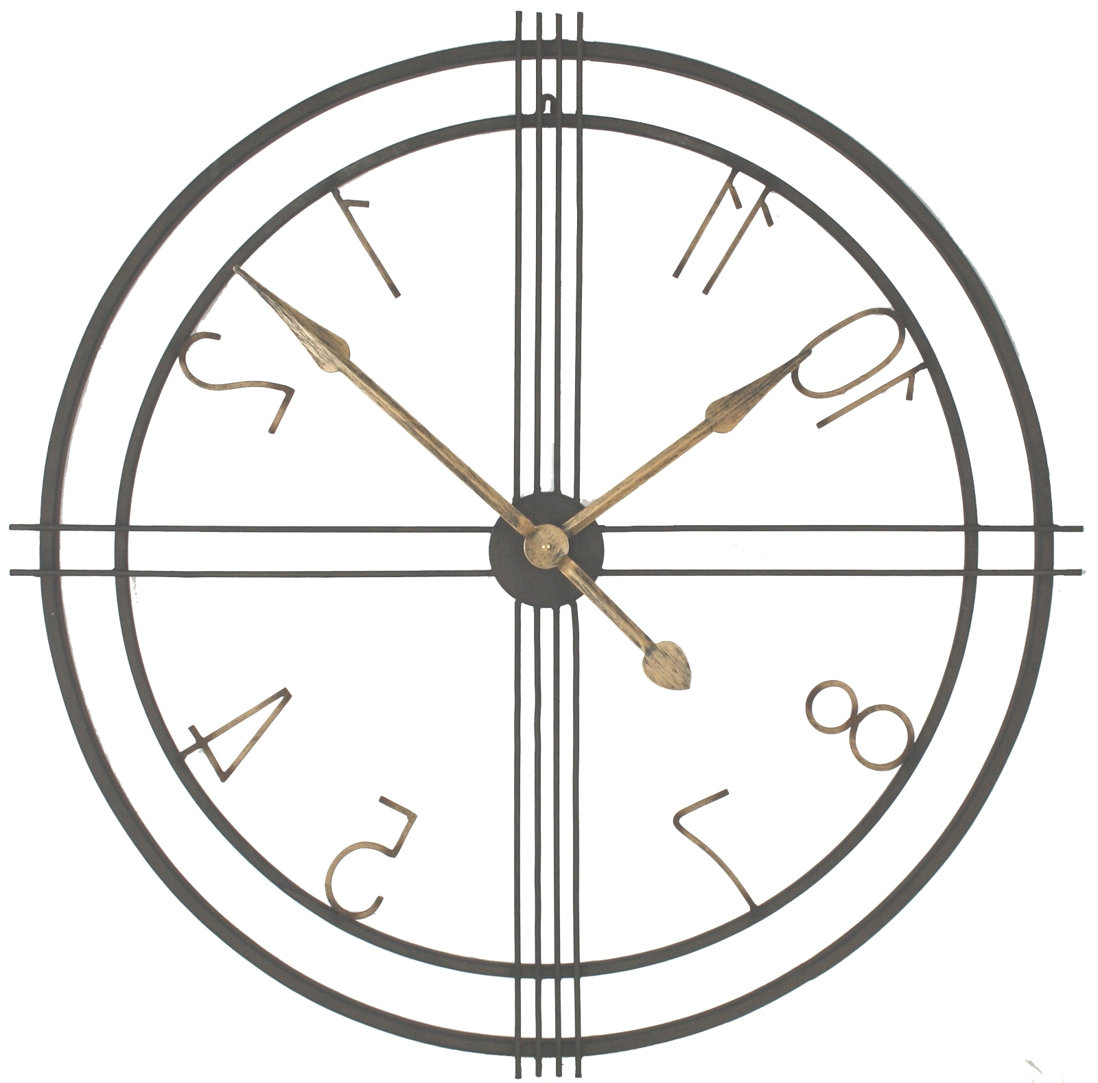 Metal Art Deco Style Wall Clock, Scarthingwell – Wholesale Home Within Favorite Art Deco Wall Clock (View 12 of 15)