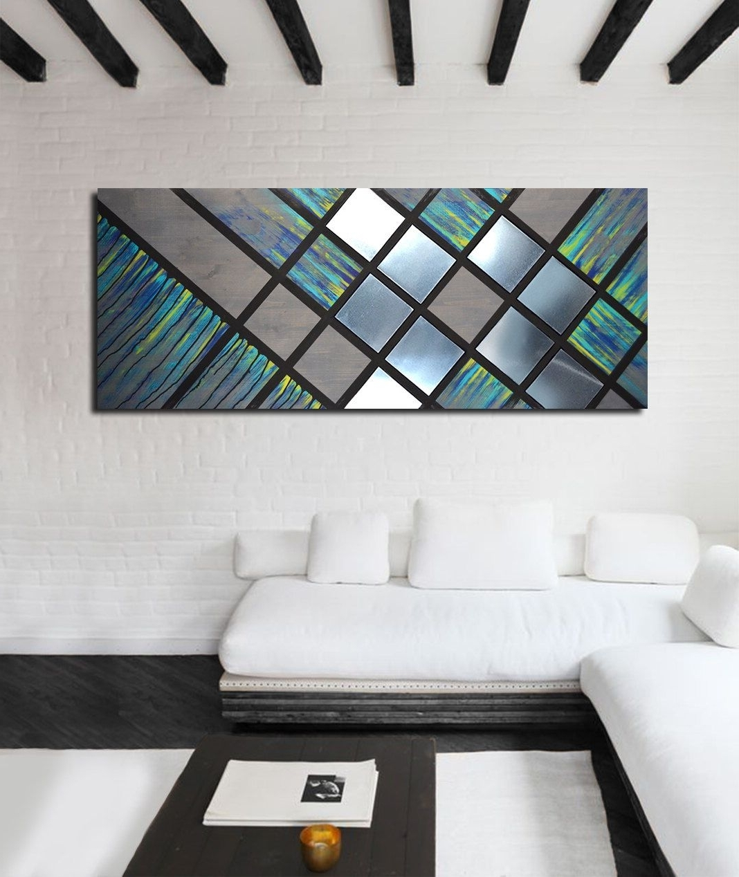 Metal Art Wall Decor, Wood Wall Art Decor, Modern Abstract Wall Art Within Best And Newest Large Contemporary Wall Art (View 7 of 15)