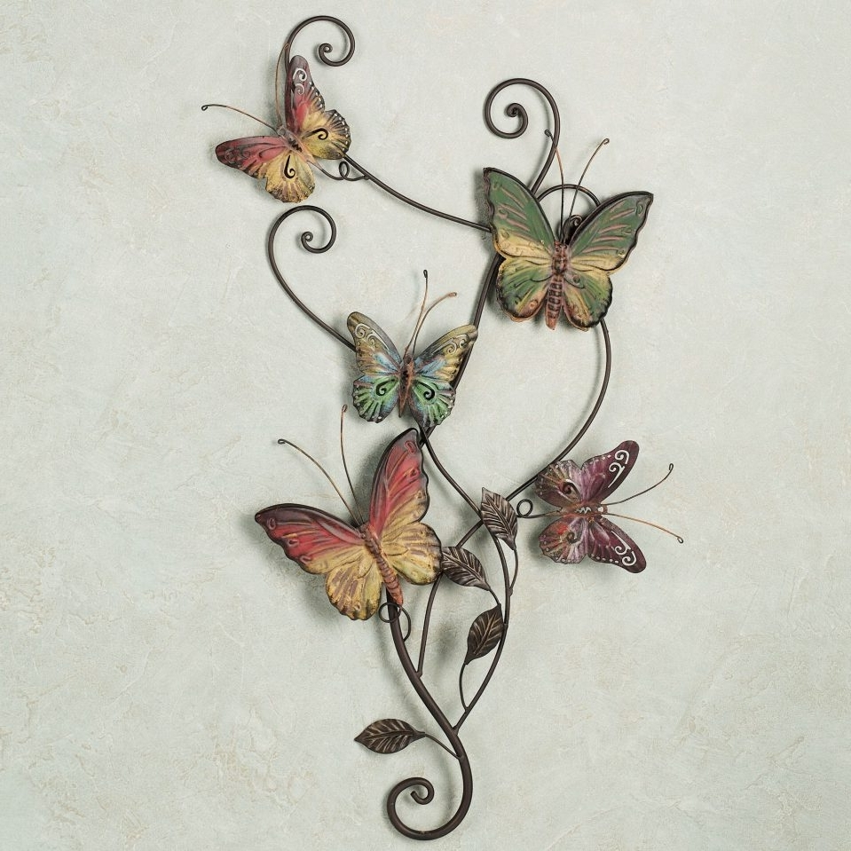 Metal Butterfly Wall Art Ideas : Andrews Living Arts – Super Pretty With Regard To 2018 Butterfly Wall Art (View 14 of 15)
