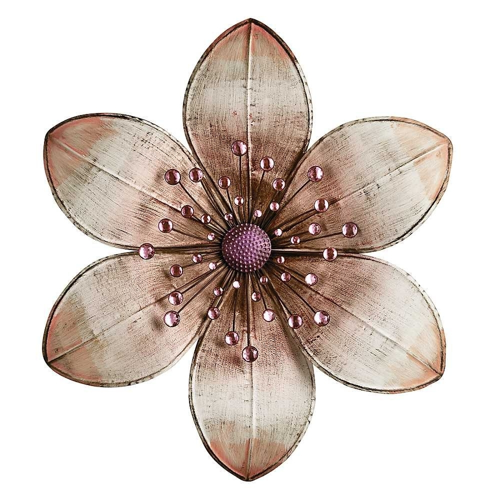 Metal Flower Pertaining To Well Known Metal Flower Wall Art (View 6 of 15)