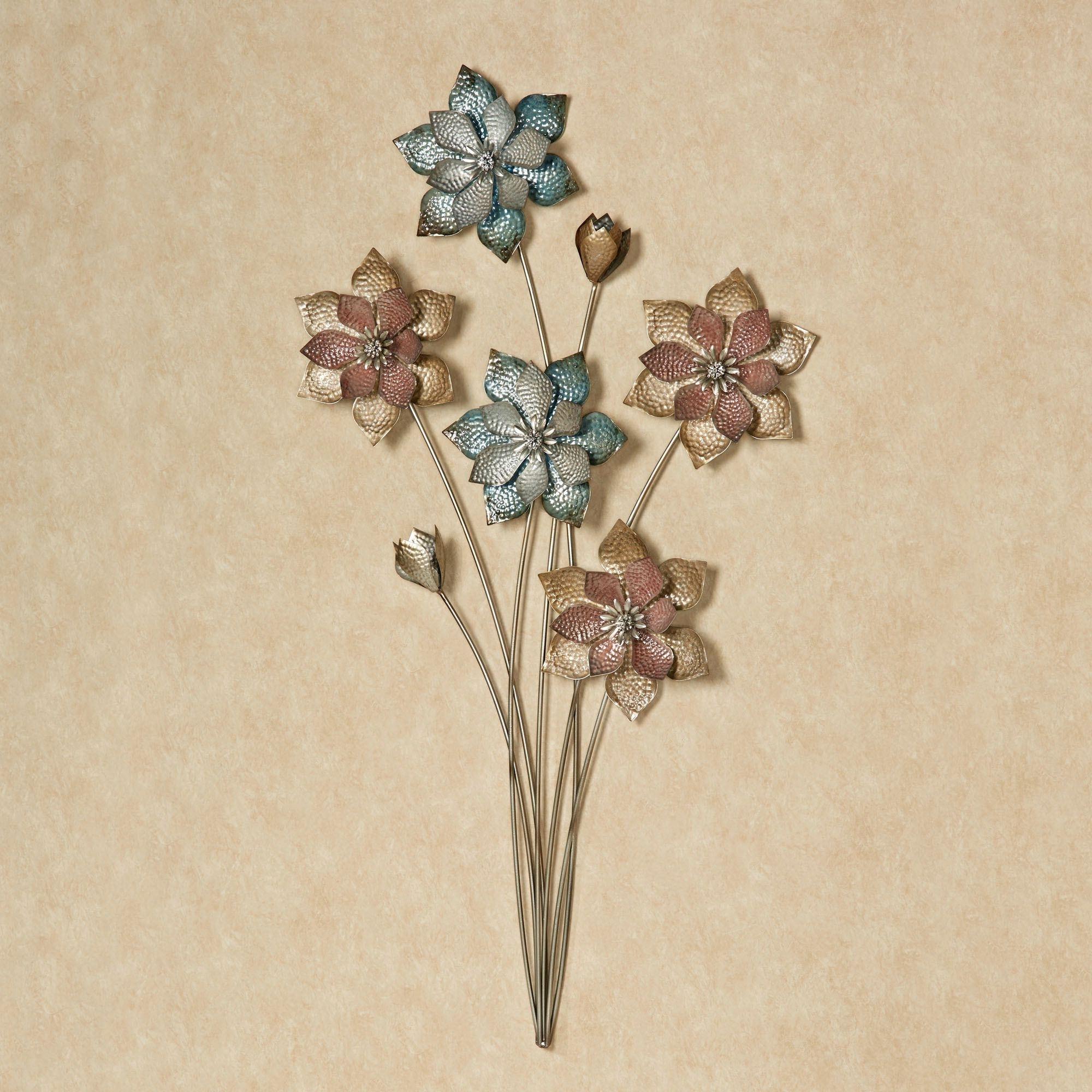 Metal Flower Wall Art Regarding Well Known Evening Flowers Metal Wall Art (View 13 of 15)