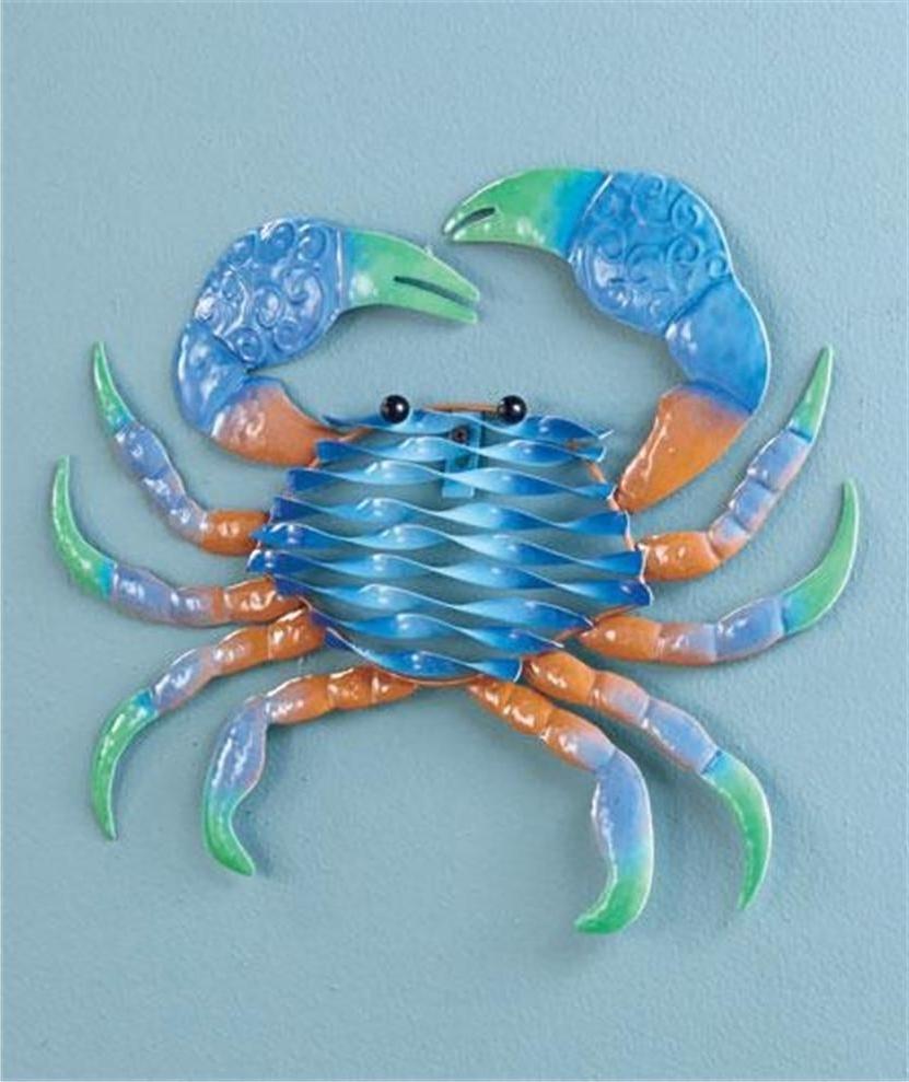 Metal Handicraft Look Sealife Seahorse Octopus Crab Lobstar Vibrant Within Popular Sea Life Wall Art (View 9 of 15)