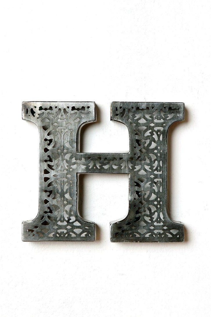 Metal Letter Wall Art Pertaining To Most Up To Date 42 Metal Letter Wall Art, Vintage Distressed Metal Sign Letter G (View 6 of 15)