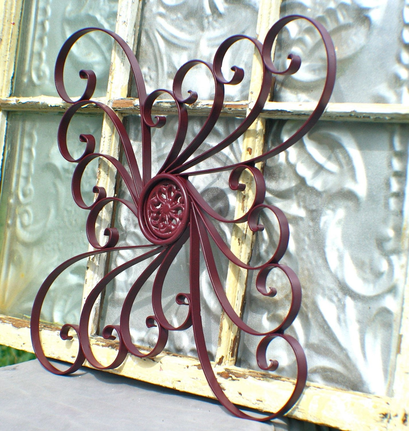 Metal Outdoor Wall Art In Well Known Awesome Sun Face Metal Outdoor Wall Art Hayneedle Pics Of Decor (View 12 of 15)