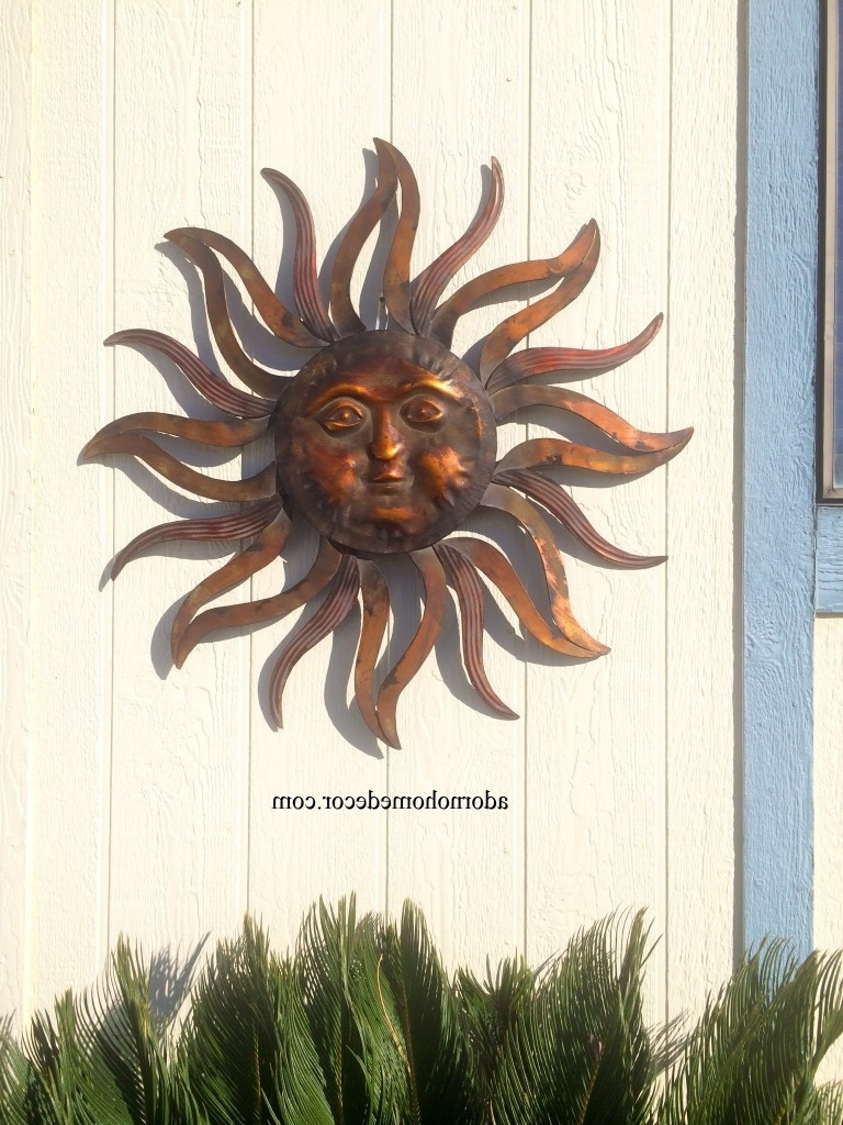Metal Sun Wall Art Large Decor Rusticn Indoor Outdoor Patio Mexican Within Recent Outdoor Sun Wall Art (View 7 of 15)