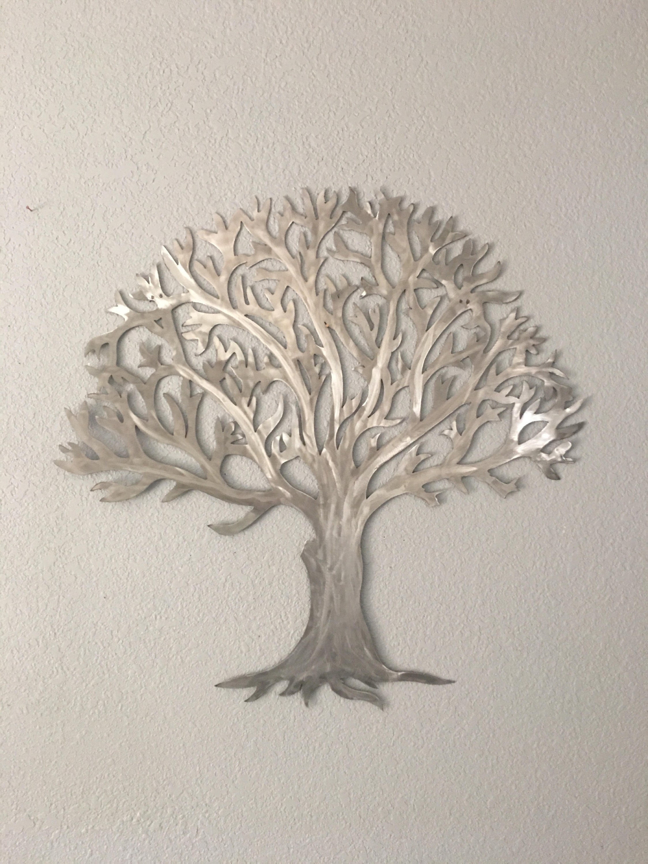 Metal Tree Wall Art Pertaining To Trendy Metal Tree Stainless Steel Tree  Wall Art  Wall Decor (View 5 of 15)