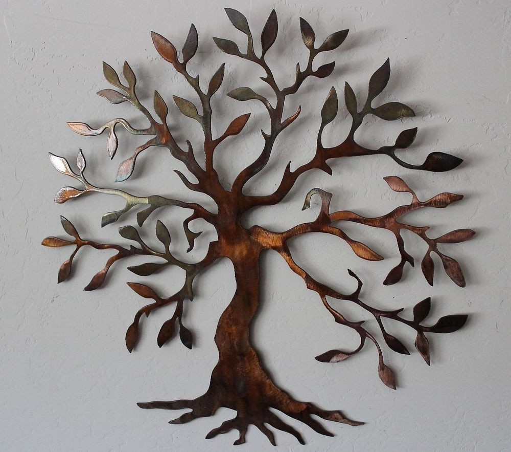 Metal Wall Art Decors Inside Popular Olive Tree –Tree Of Life Metal Wall Art Decor (View 6 of 15)
