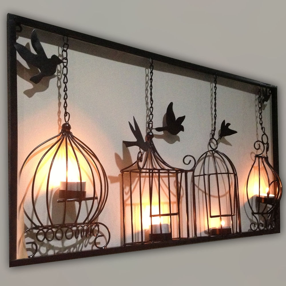 Metal Wall Art Decors Intended For Widely Used Bird Cage Design Black Metal Wall Art – Almosthomebb (View 7 of 15)