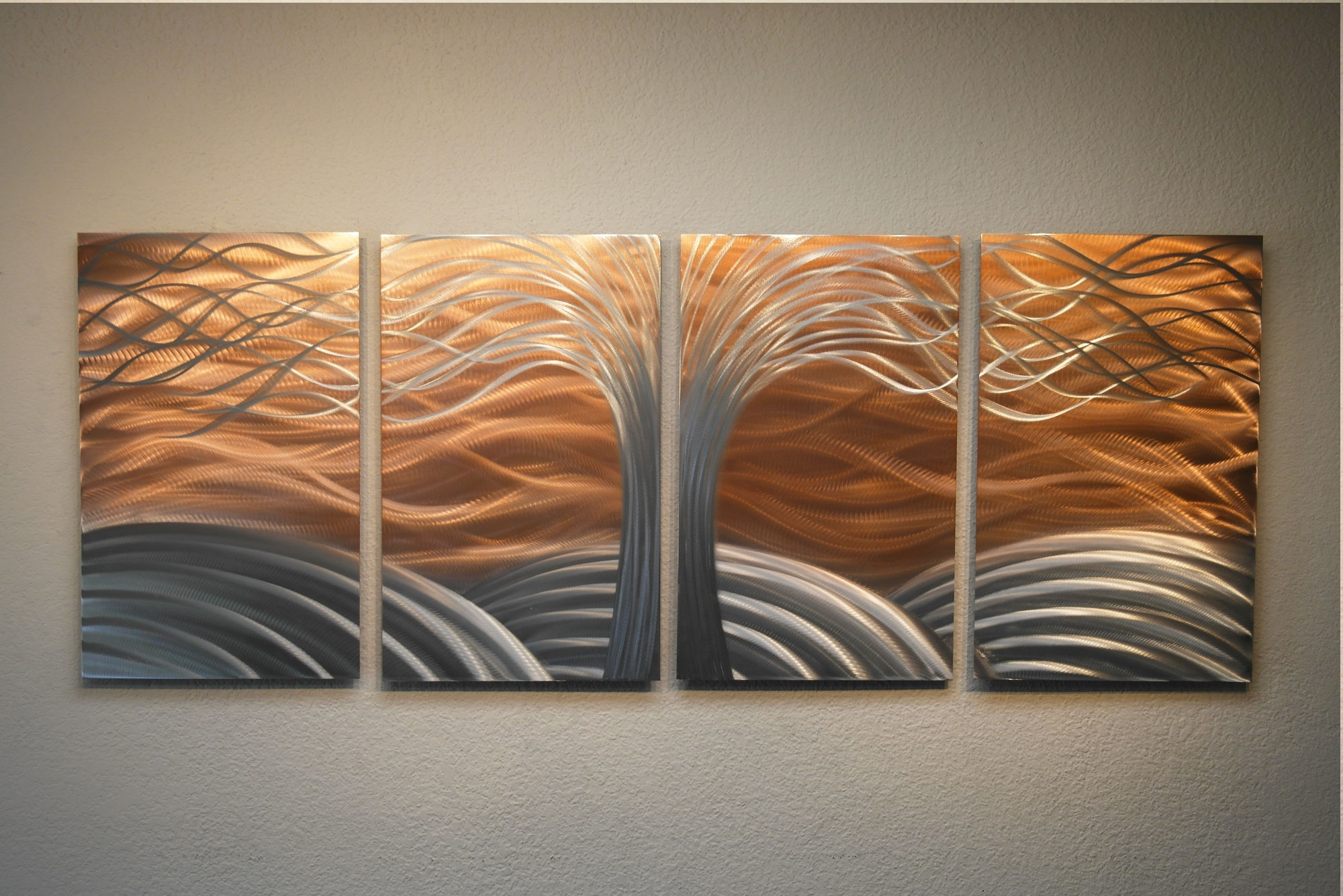 Metal Wall Art Intended For Current Tree Of Life Bright Copper – Metal Wall Art Abstract Sculpture (View 11 of 15)