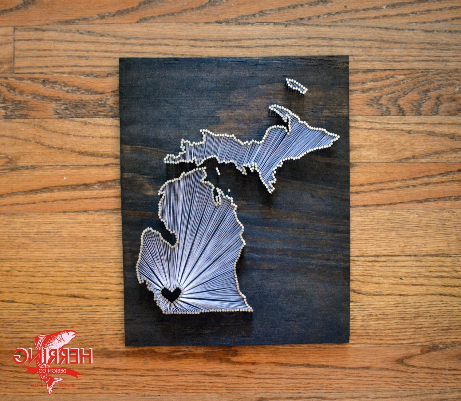 Michigan Wall Art In Most Recent Stained Michigan State String Art Ann Arbor Michigan (View 11 of 15)