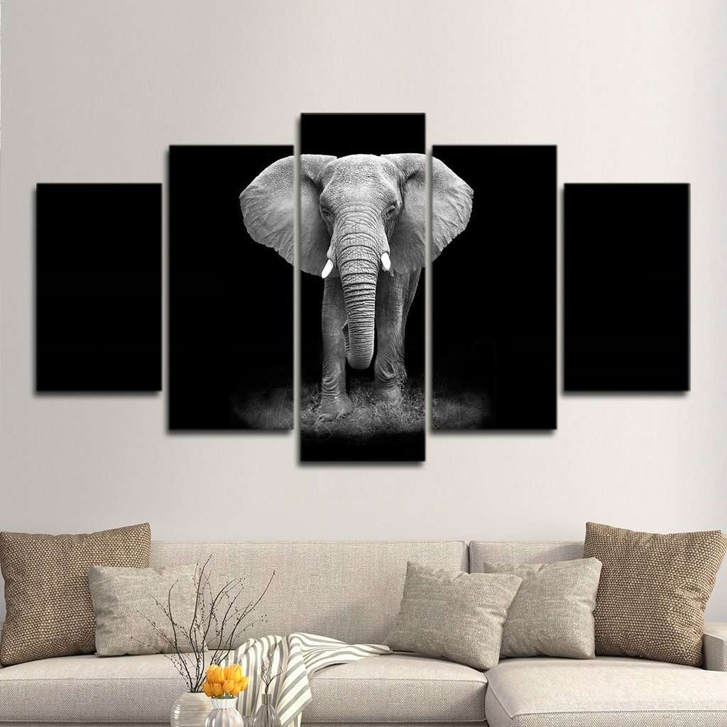 Mighty Paintings With Regard To Popular Elephant Wall Art (View 9 of 15)