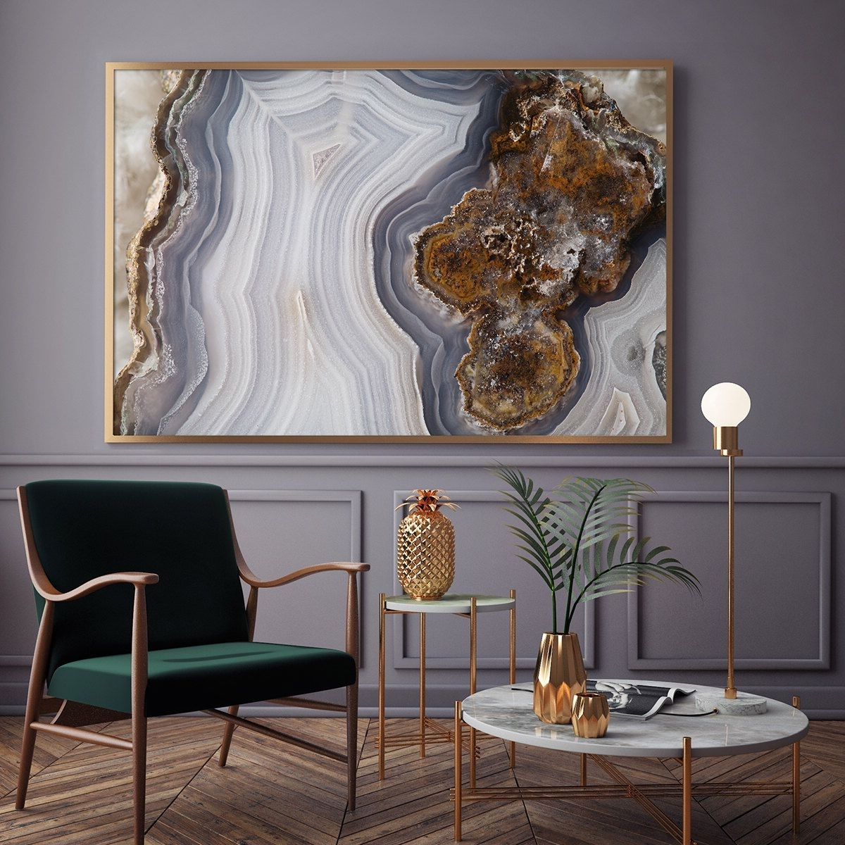 Mineral Photography – (Print # 056) Agate Slab – Choose Fine Art Within Recent Agate Wall Art (View 2 of 15)