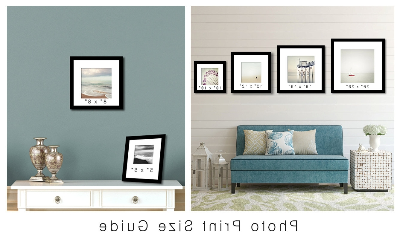 Minimalist Black And White Photograph, Lake Photograph, Zen Wall Art In Latest Lake House Wall Art (View 12 of 15)