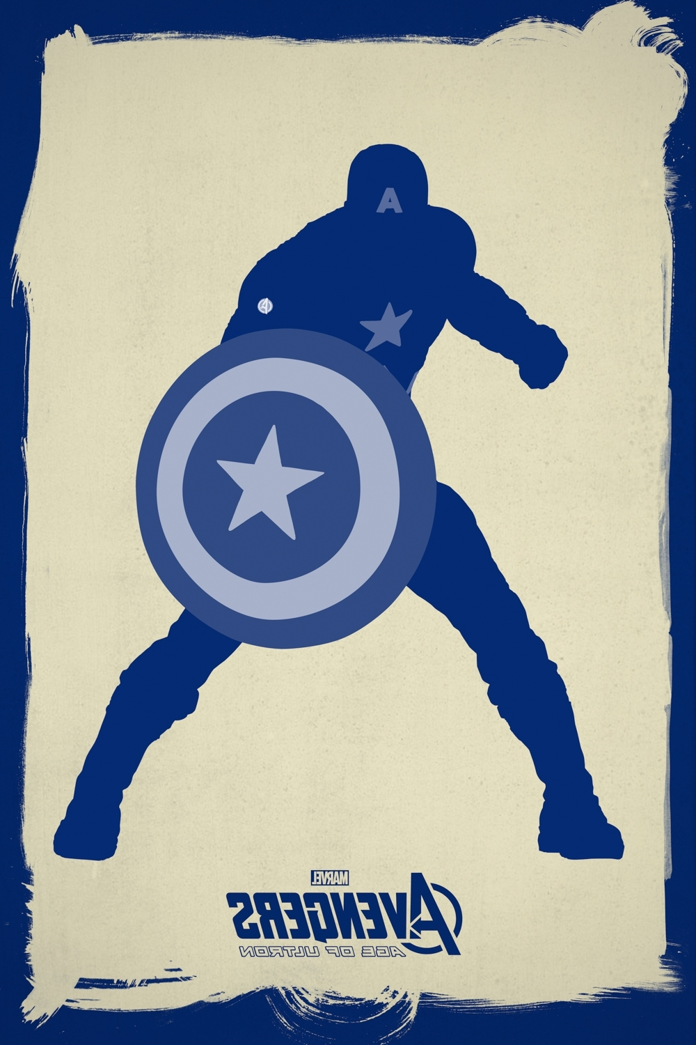 Minimalistic Avengers Poster Captain America Canvas Wall Art Inside Well Liked Captain America Wall Art (View 11 of 15)