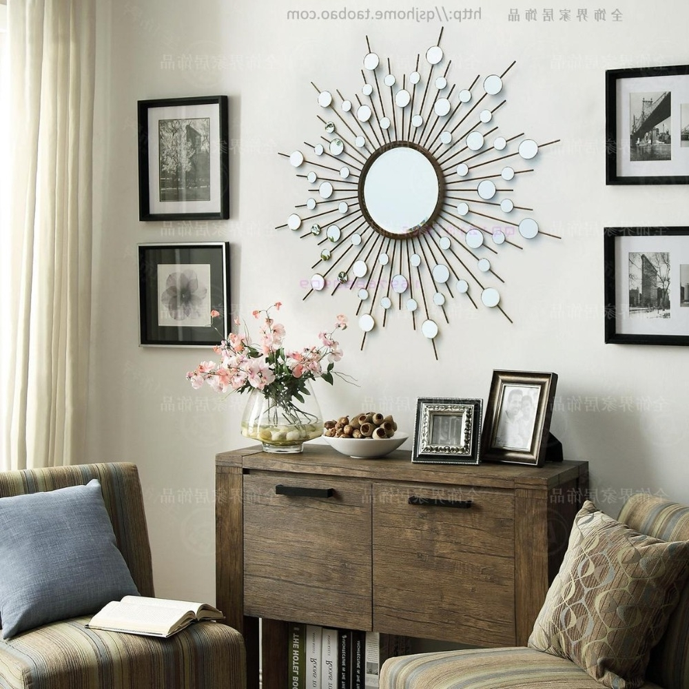 Mirror Wall Art Intended For Most Up To Date Metal Wall Mirror Decor Modern Mirrored Wall Art Wire Wall Art (View 7 of 15)