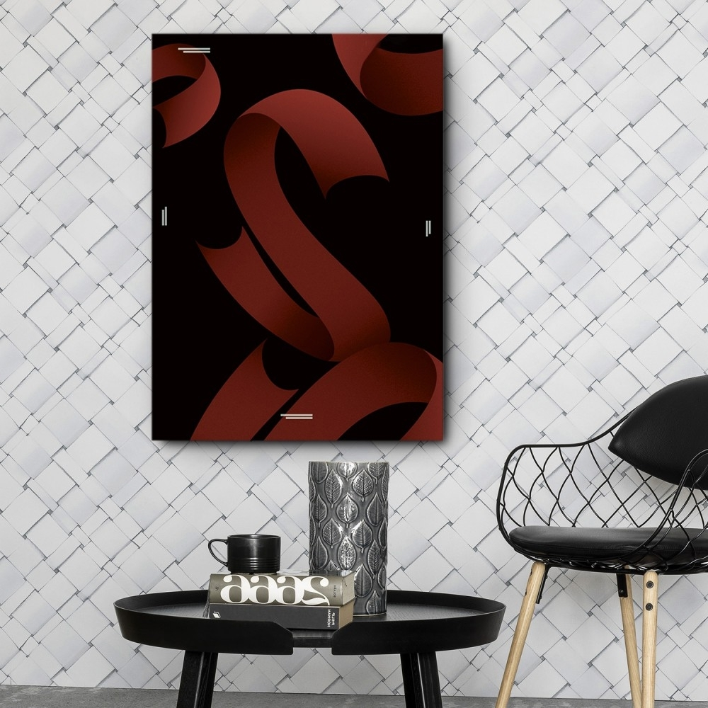 Mod Made Red Ribbons Canvas Wall Art Inside Well Liked Tile Canvas Wall Art (View 15 of 15)