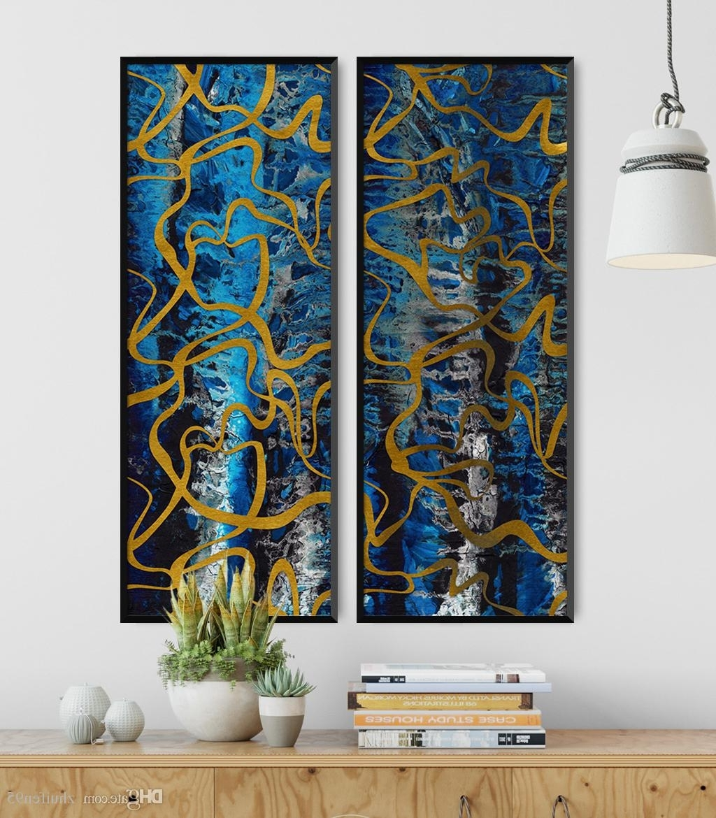 Modern Abstract Painting Wall Art With Regard To Widely Used 2018 Modern Abstract Painting Home Wall Art Canvas Paintings (View 7 of 15)