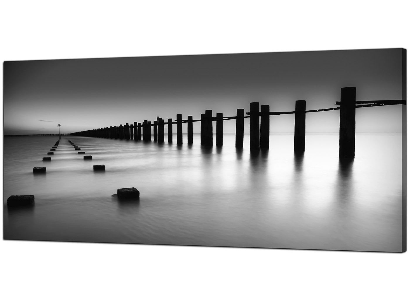 Modern Black And White Canvas Art Of The Sea With Regard To Fashionable Black And White Canvas Wall Art (View 8 of 15)