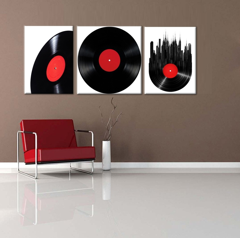 Modern Framed Wall Art Canvas Intended For Famous Vintage Retro Disk Abstract Painting Wall Art Modern Canvas Art Wall (View 8 of 15)