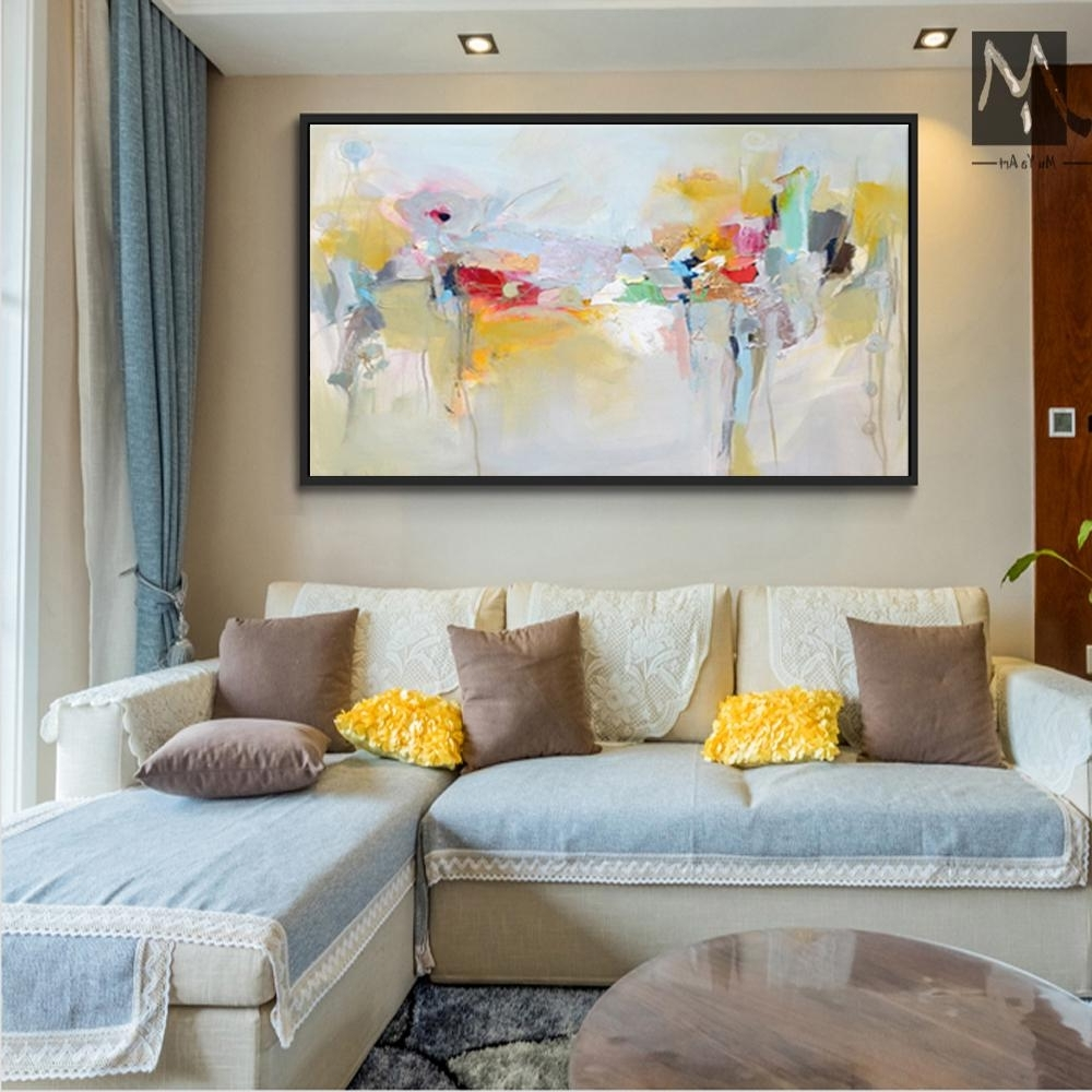 Modern Large Canvas Wall Art Pertaining To Best And Newest 2018 Large Canvas Wall Art Acrylic Painting Modern Paintings Wall (View 10 of 15)