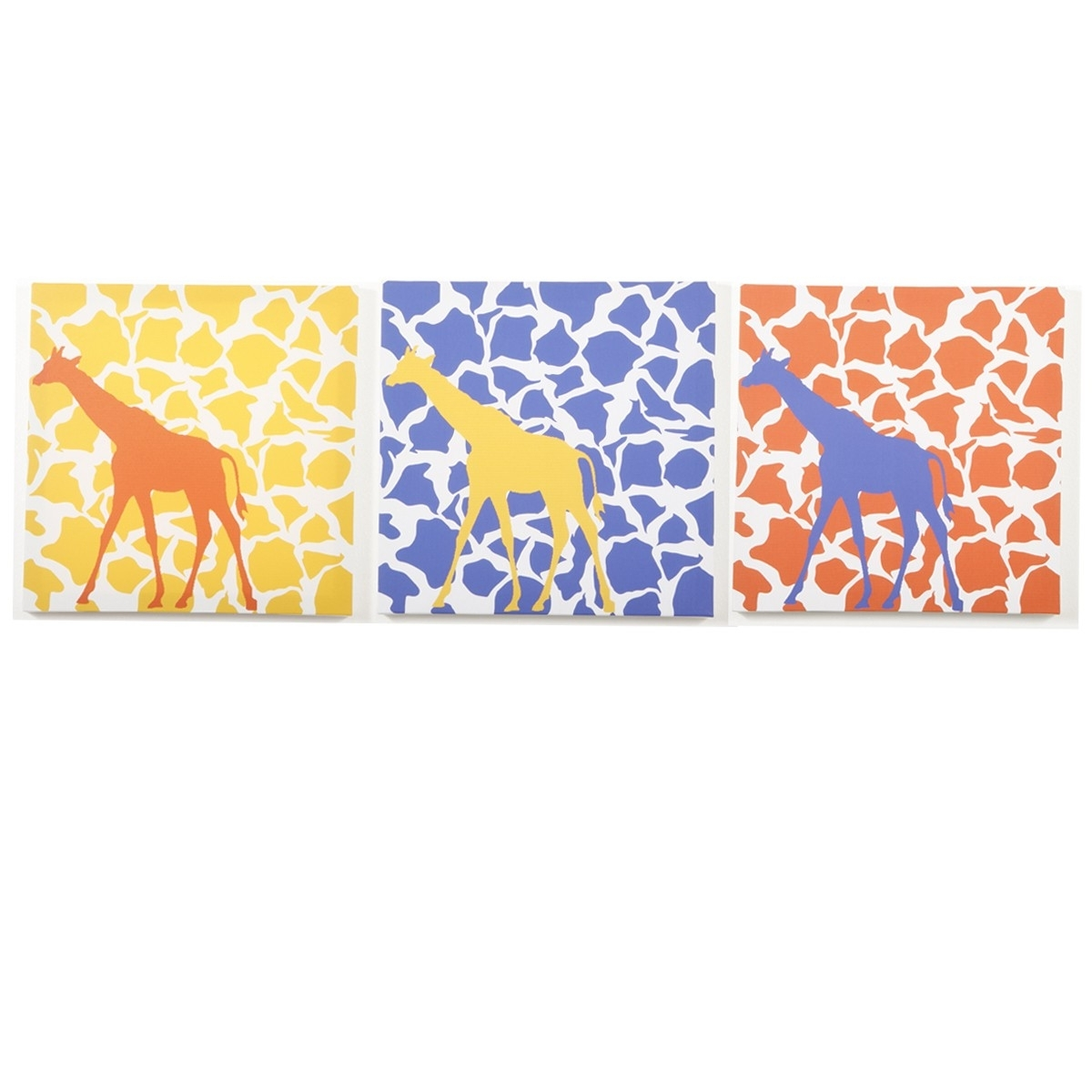 Modern Littles – Rusty Giraffe – Canvas Wall Art – 3 Pc (View 12 of 15)