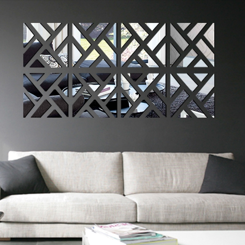 Modern Mirror Stick Diy Acrylic Removable Mirror Stick Wall Art Pertaining To Most Recently Released Stick On Wall Art (View 4 of 15)