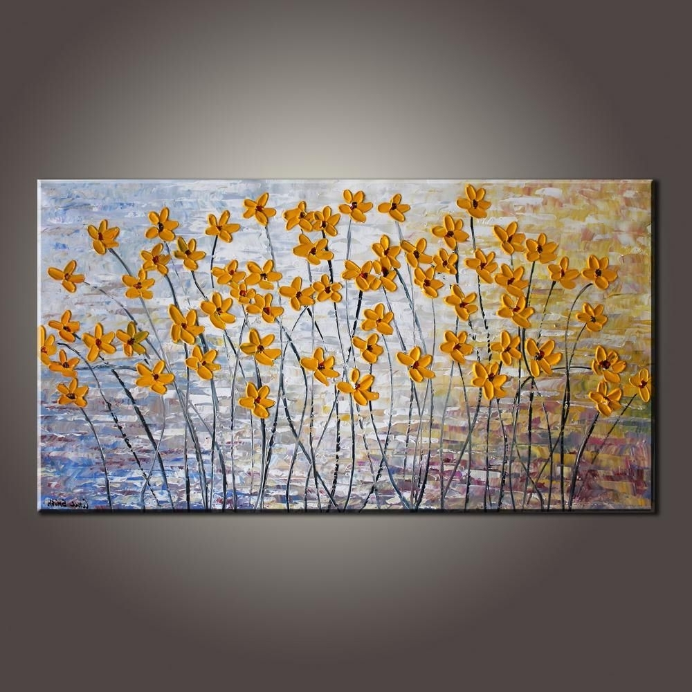 Modern Painting Canvas Wall Art In Well Known Art Painting, Flower Art, Modern Art, Contemporary Art, Abstract Art (View 9 of 15)