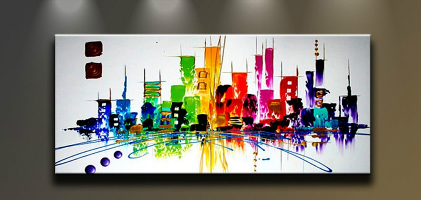 Modern Painting Canvas Wall Art Inside Best And Newest Modern Abstract Hand Painted Art Oil Painting Wall Decor Canvas (View 10 of 15)