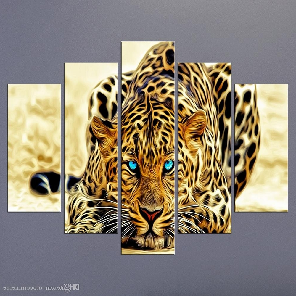 Modern Unframed Modular Paintings On Canvas Art Panel Of Cheetah Pertaining To Current Animal Canvas Wall Art (View 7 of 15)
