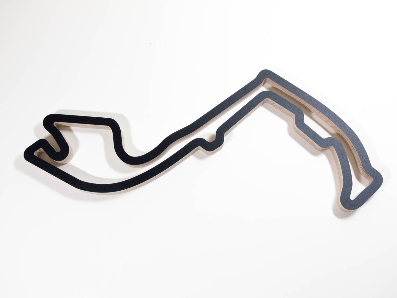 Monaco F1 Grand Prix Motorsport Racing Track Wall Art Wooden Throughout Preferred Race Track Wall Art (View 4 of 15)