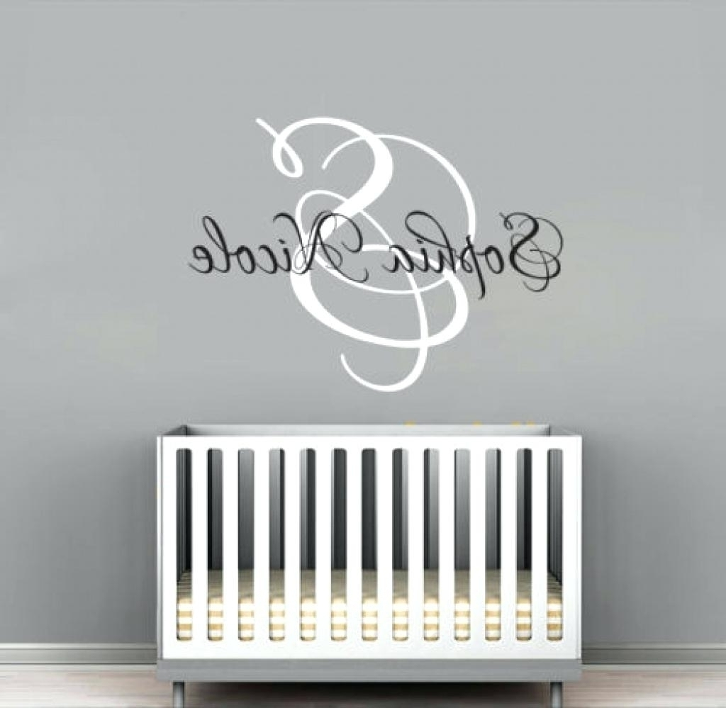 Monogram Wall Art With Most Popular Monogram Wall Art Wood The Most Awesome As Well As Lovely Monogram (View 8 of 15)