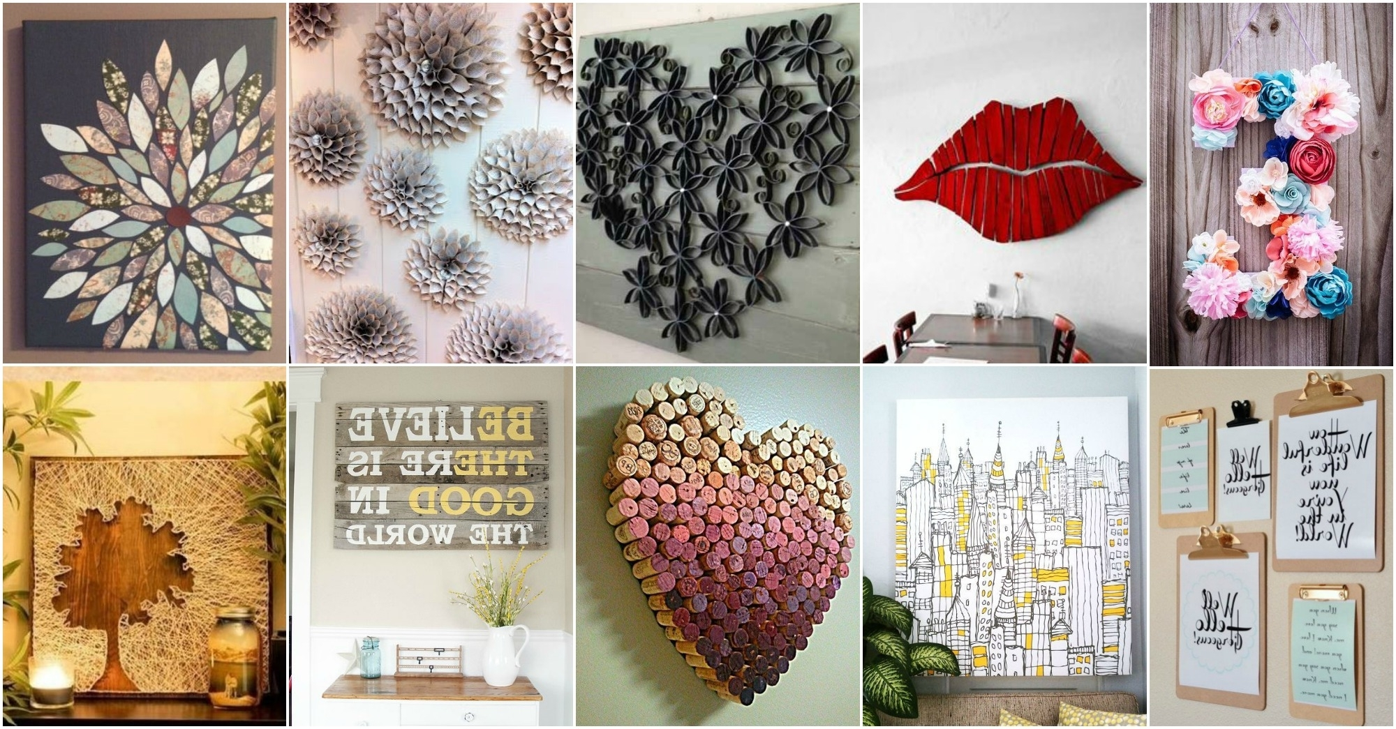 More Amazing Diy Wall Art Ideas Regarding Most Recently Released Wall Art Diy (View 5 of 15)