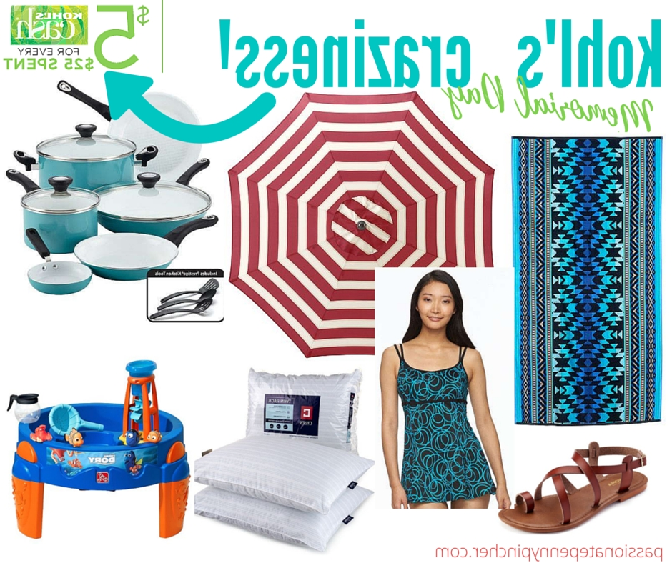More Kohl's Memorial Day Craziness! (Patio Umbrella, Pillows, Sheets Inside Best And Newest Kohls Patio Umbrellas (View 12 of 15)