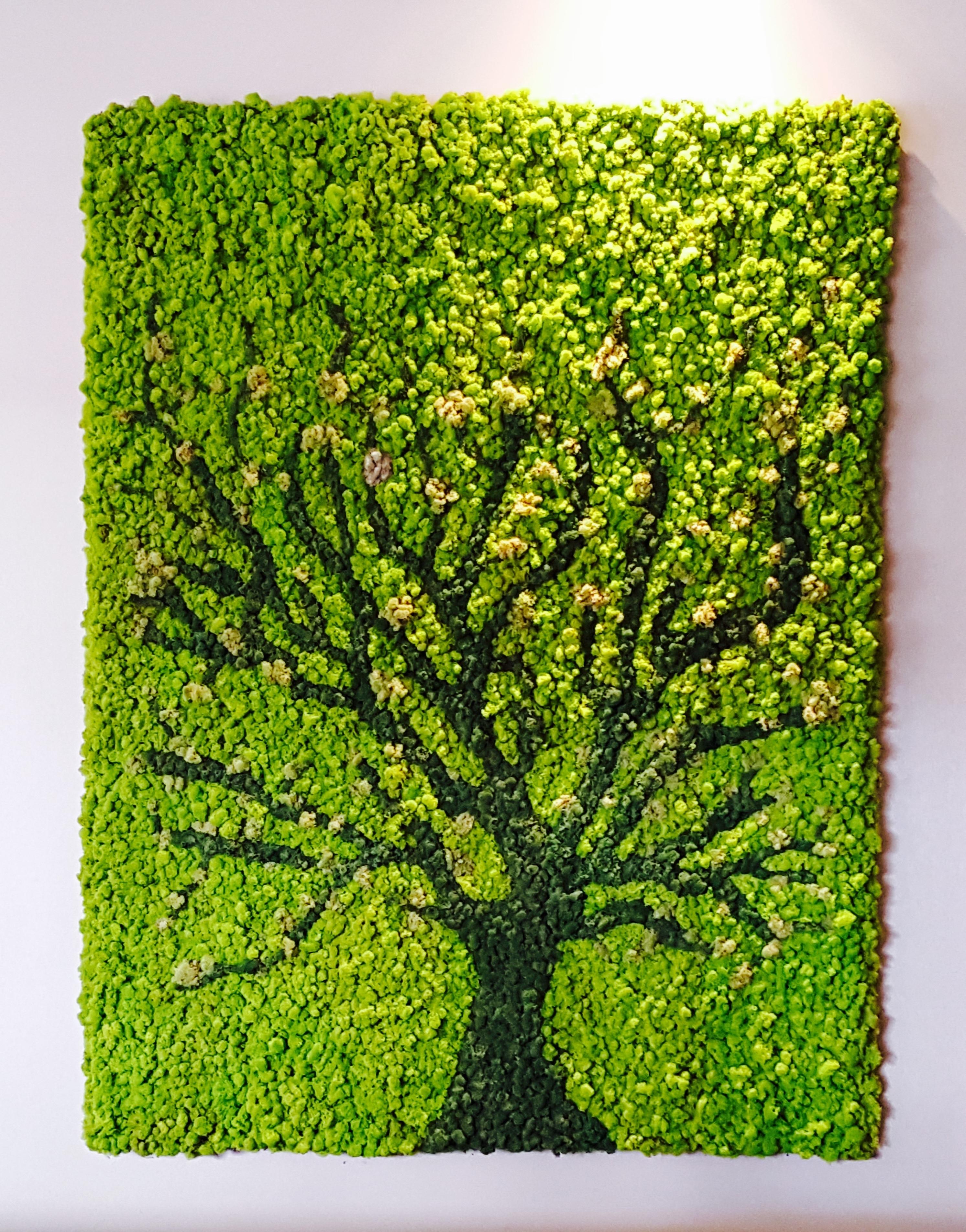 Moss Art Wall (View 3 of 15)