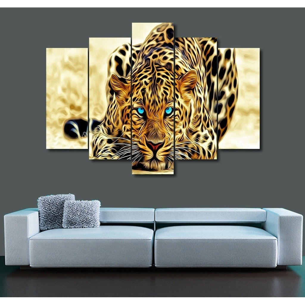 Most Current 2017 Picture Print Painting Ferocious Cheetah Animal Canvas Wall Art Regarding Animal Canvas Wall Art (View 13 of 15)